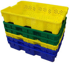 Thunderbird Plastics Small Vented Agricultural Container Tote