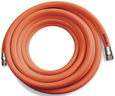 SANI-LAV H253 25 Ft. Safety Orange Premium Wash-Down Hose with Stainless Steel Fittings