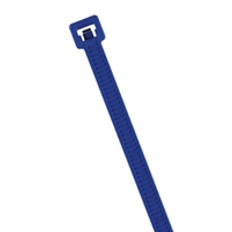 "HellermannTyton MCT50L Metal Detectable 15"" Cable Ties in Blue"