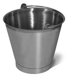 SANI-LAV Model P16 16 Quart Stainless Steel Bucket/Pail