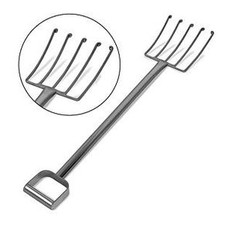 SANI-LAV 2076 Stainless Steel Cheese Fork with Curled Tines (close-up)