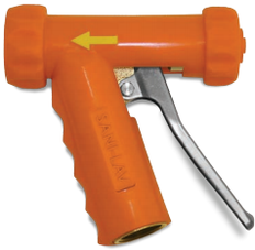 SANI-LAV Model N1 Brass Industrial Mid-Size Spray Nozzle Orange
