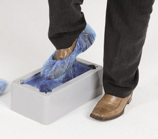 Hill Brush AD1 Automatic Shoe Cover Dispenser in Action