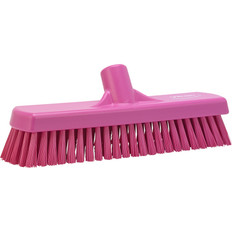 "Vikan 7060 12"" Floor/Wall Scrub with Stiff Bristles (Front View)"