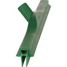 "Vikan 7715 28"" Double Blade Ultra Hygiene Squeegee in Green (Side View)"