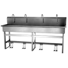 SANI-LAV 58FSL Four-Person Hands-Free Floor Mounted Wash Station