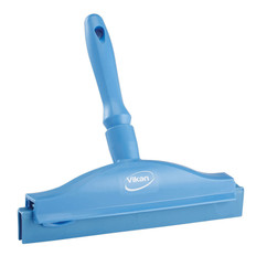 "Vikan 7711 10"" Double Blade Ultra Hygiene Bench Squeegee with Handle"