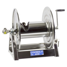 Coxreels 1125-5-100-SP Stainless Steel Hand Crank Hose Reel
