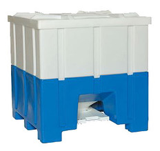8090 Bottom Discharge Plastic Hopper Bin