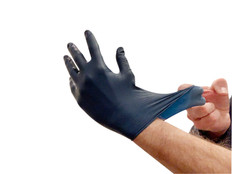 Metal Detectable 4 Mil Disposable Nitrile Gloves - 100/box