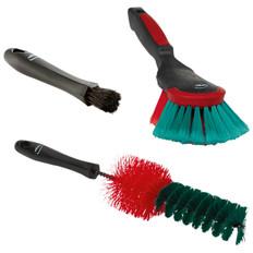 Vikan 521052 3-Piece Automotive Cleaning Brush Kit