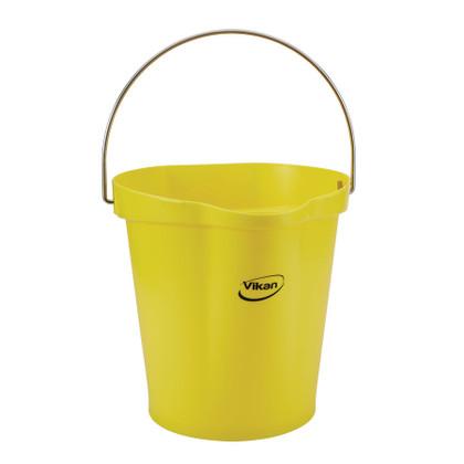 Vikan 5686 3 Gallon Bucket/Pail in Yellow