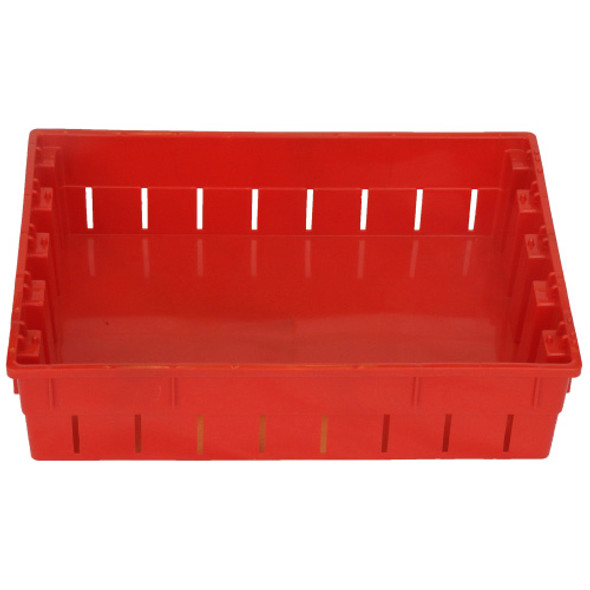 Thunderbird Plastics Vented Berry Tray Tote - Nestable / Stackable