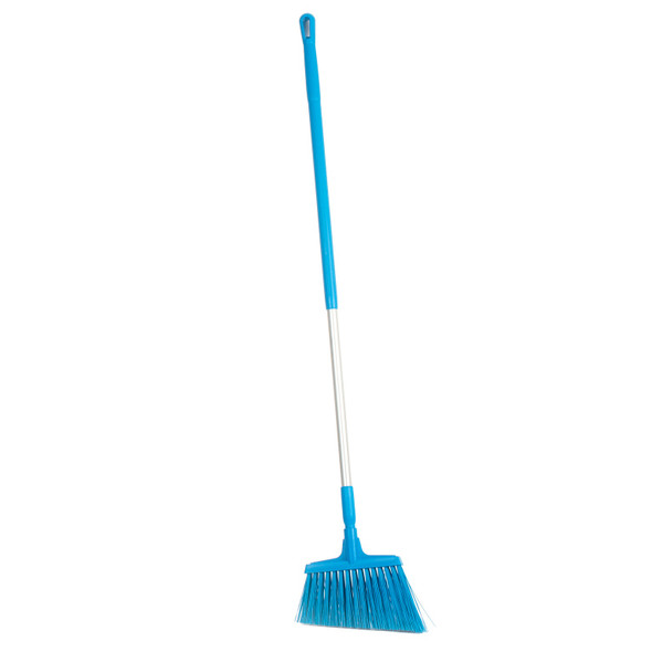 "Vikan 2914 12"" Stiff Angle Cut Broom w/ 51"" Alum Handle"
