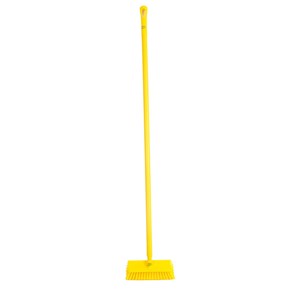 """Vikan 7047 10"""" High-Low Scrub with 60"""" Ergo Sleeved Handle"""