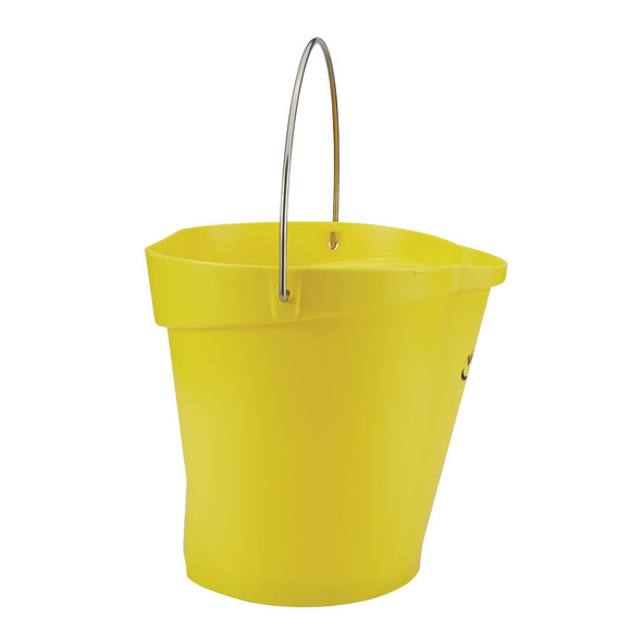 Vikan 5686  3 Gallon Bucket/Pail in Yellow (Side View)