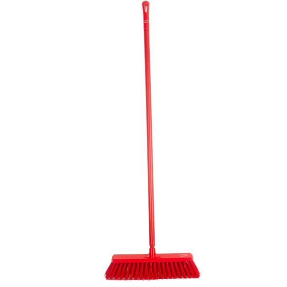 "Vikan 2920 20"" Extra Stiff Push Broom with 60"" Handle"