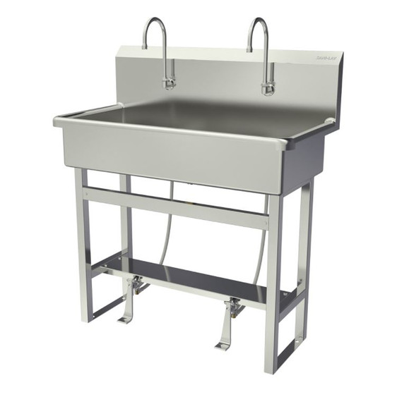 SANI-LAV 54F1 Two-Person Hands-Free Floor Mounted Wash Station