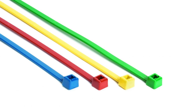 "HellermannTyton Metal Detectable 15"" Cable Ties in 4 Colors"