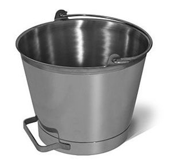 13 Quart Stainless Steel Bucket/Pail with Side Handle