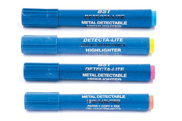 BST HLPEN Metal Detectable Hi-lighter Markers - 4 Colors