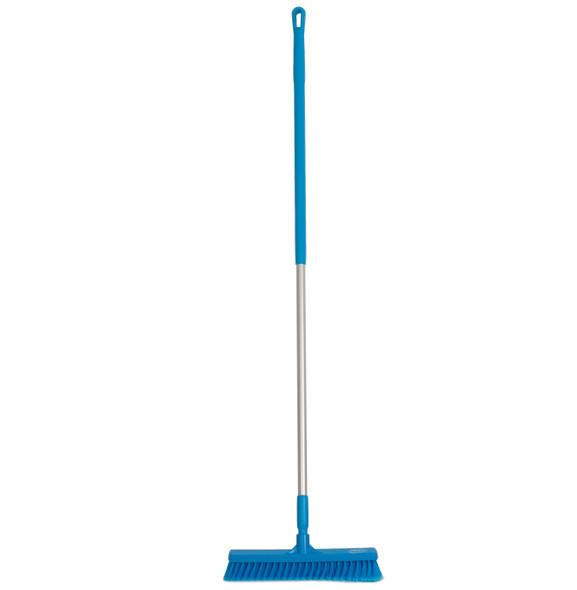 "Vikan 3178 16"" Fine Particle Push Broom w/ 60"" Aluminum Handle"