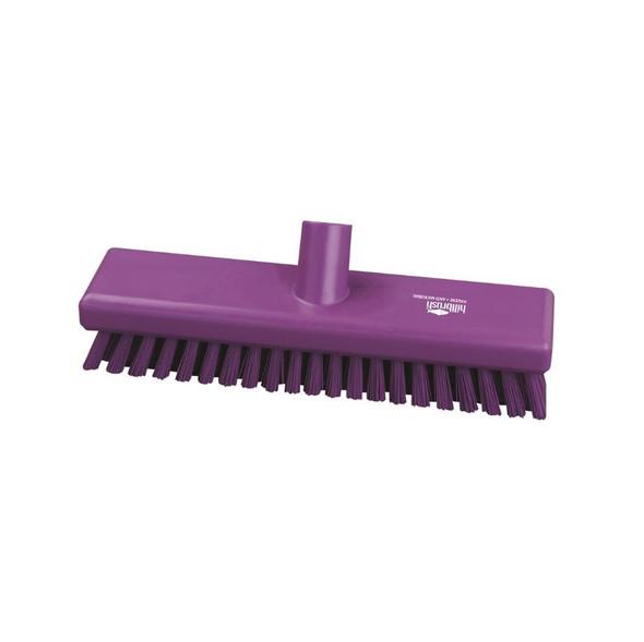 "Hillbrush AMB770 Antimicrobial 12"" Extra Stiff Floor Scrub"