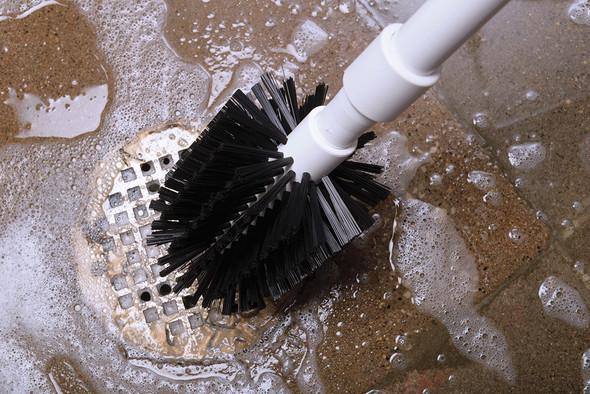 "4"" Drain Brush with 36"" Handle Closeup"