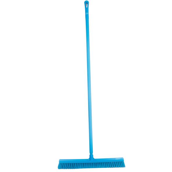 "Vikan 3194 24"" Wide Wet-Dry Push Broom w/ 60"" Poly Handle"