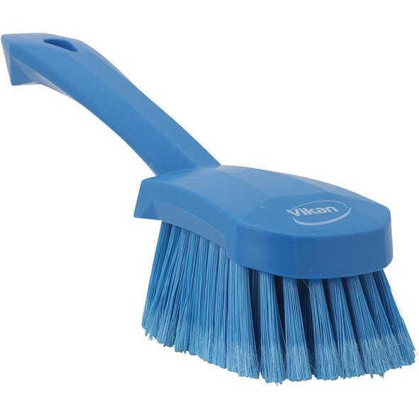 Vikan 4194 Short Handle Soft/Split Washing Brush (Angle View)