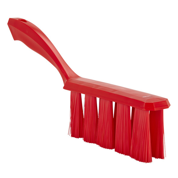 Vikan 4585 Medium Bristle UST Bench Brush in Red