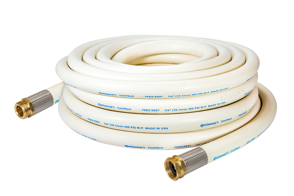 25 Ft. Fortress 300 White Wash-Down Hose Assembly Coil