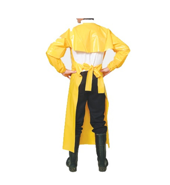 Top Dog 6 Mil Protective Gown - Large (Rear View)