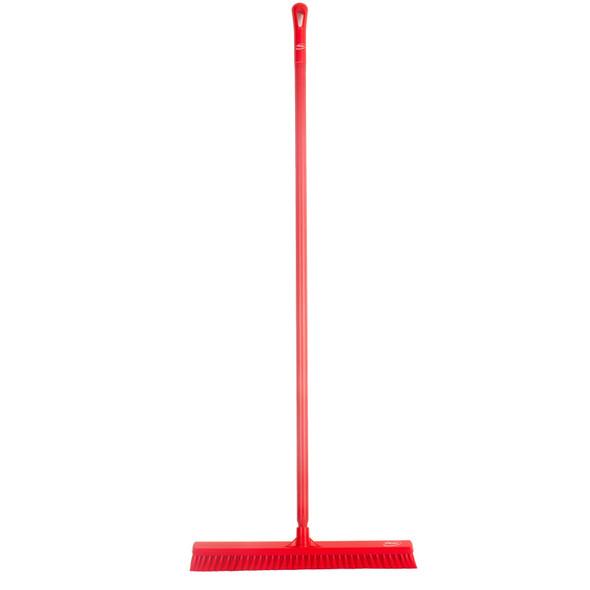"""Vikan 3199 24"""" Medium Duty Push Broom w/ 60"""" Handle"""