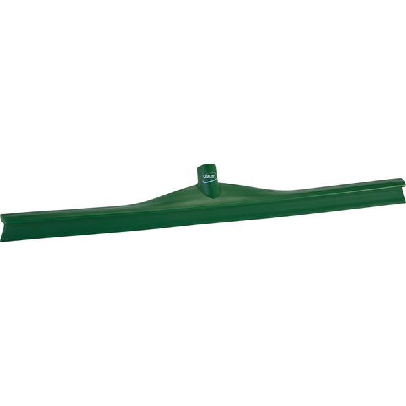 "Vikan 7170 28"" Single Blade Ultra Hygiene Squeegee in Green (Front View)"