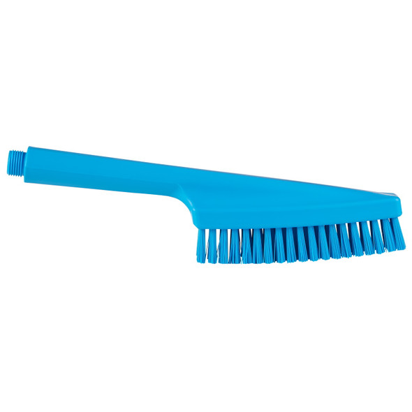 Vikan 7057 Waterfed Hand Brush in Blue (Side View)