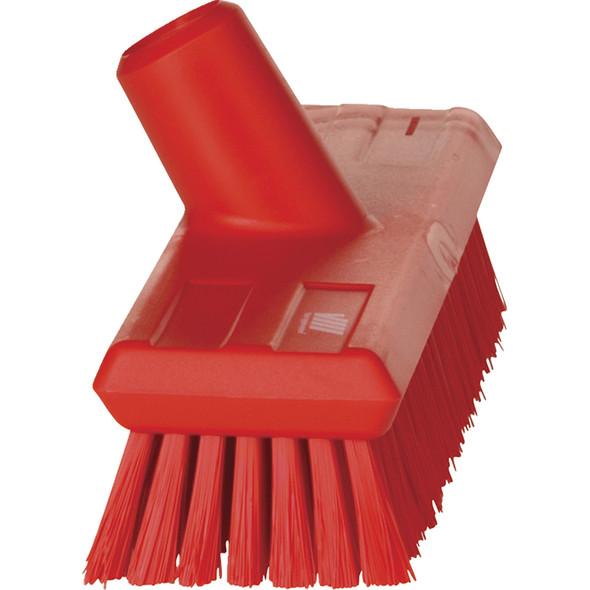 """Vikan 7043 11"""" Waterfed Stiff Floor Scrub (Side View)"""