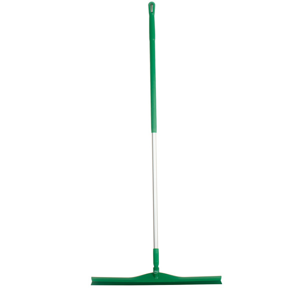 "Vikan 7170 28"" Single Blade Squeegee with 60"" Aluminum Handle in Green"