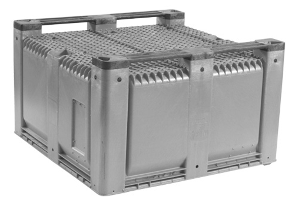 """MACX48 Solid Harvest Bin - 48"""" x 48"""" x 28.5"""" Bulk Container (2 Runners)"""