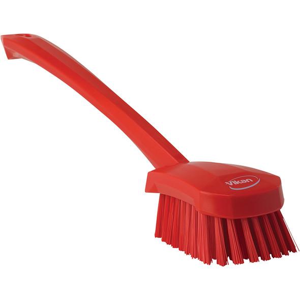 Vikan 4186 Long-Handled Scrubbing Churn Brush Stiff Bristles