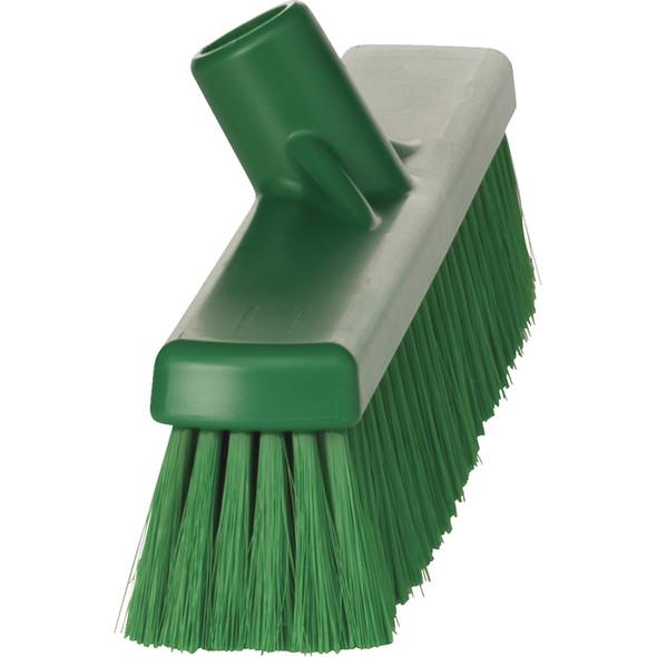 "Vikan 3179 16"" Small Particle Push Broom with Soft Bristles"
