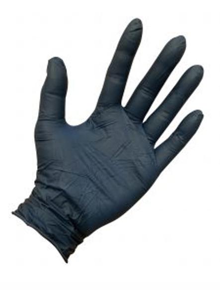 Metal Detectable 4 Mil Disposable Nitrile Gloves - 100/box