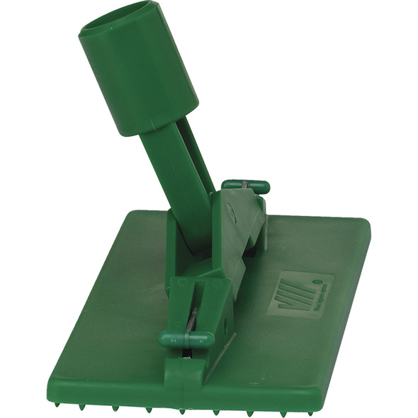 Floor & Wall Cleaning Pad Holder in Green (Side View)