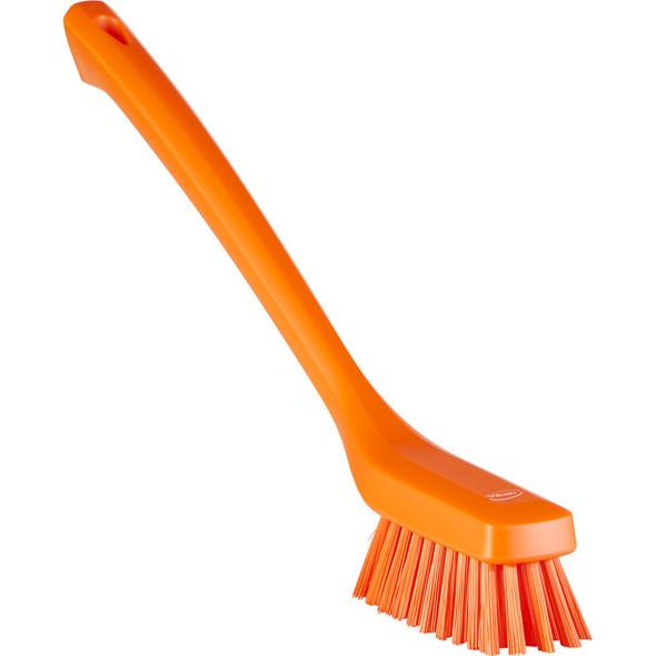 Vikan 4185 Narrow Head Long Handle Stiff Cleaning Brush