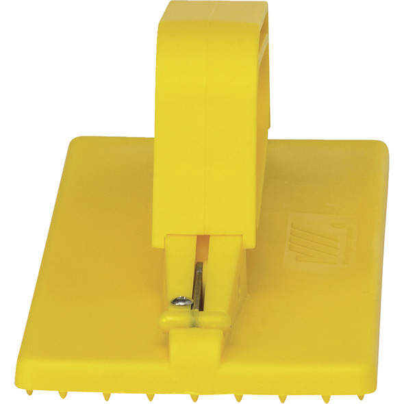 Handheld Cleaning Pad Holder in Yellow (Front View)