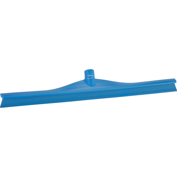 "24"" Single Blade Squeegee with 60"" Handle in Blue (Front View)"