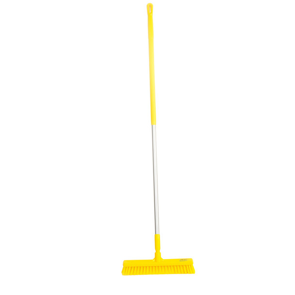 "Vikan 3174 16"" Combo-Duty Push Broom w/ 60"" Alum Handle"