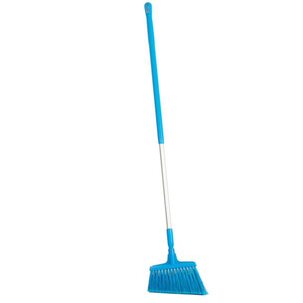"12"" Soft Split Bristle Angle Broom with 51"" Aluminum Handle"