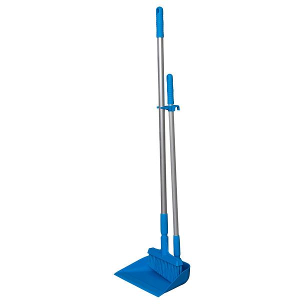 """Vikan 33"""" Hygienic Upright Dustpan and 10"""" Lobby Broom Combo"""