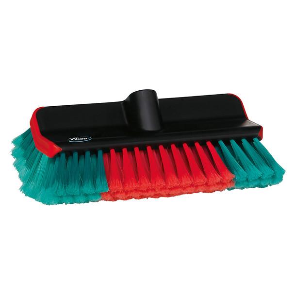 "Vikan 524752 11"" Soft/Split Waterfed High/Low Washing Brush"